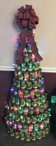 Holiday Food Drive Can Tree